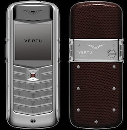 Vertu Constellation Dark Brown Karung Skin