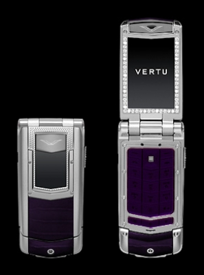 Vertu Constellation Ayxta Diamonds Purple Alligator